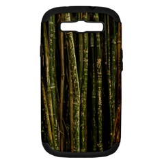 Green And Brown Bamboo Trees Samsung Galaxy S Iii Hardshell Case (pc+silicone) by Nexatart