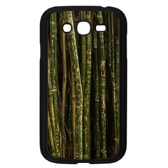 Green And Brown Bamboo Trees Samsung Galaxy Grand Duos I9082 Case (black) by Nexatart