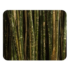Green And Brown Bamboo Trees Double Sided Flano Blanket (large)