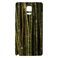 Green And Brown Bamboo Trees Galaxy Note 4 Back Case by Nexatart