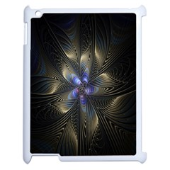 Fractal Blue Abstract Fractal Art Apple Ipad 2 Case (white)