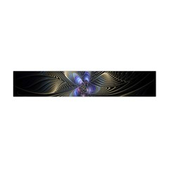 Fractal Blue Abstract Fractal Art Flano Scarf (mini)