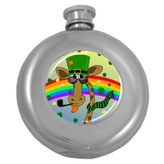 Irish Giraffe Round Hip Flask (5 Oz)