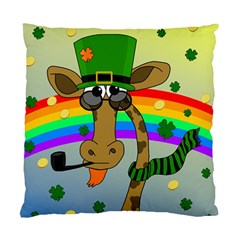Irish Giraffe Standard Cushion Case (one Side) by Valentinaart