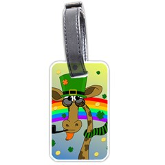 Irish Giraffe Luggage Tags (one Side)  by Valentinaart