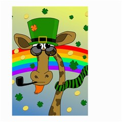 Irish Giraffe Small Garden Flag (two Sides) by Valentinaart