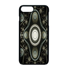 Fractal Beige Blue Abstract Apple Iphone 7 Plus Seamless Case (black) by Nexatart