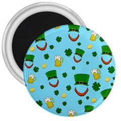 St  Patrick s Day Pattern 3  Magnets by Valentinaart