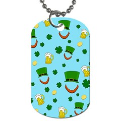 St  Patrick s Day Pattern Dog Tag (two Sides) by Valentinaart