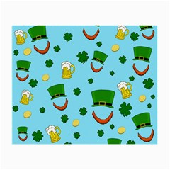 St  Patrick s Day Pattern Small Glasses Cloth by Valentinaart