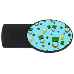 St  Patrick s Day Pattern Usb Flash Drive Oval (4 Gb)
