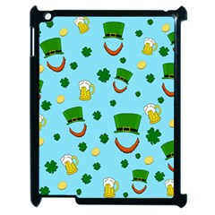 St  Patrick s Day Pattern Apple Ipad 2 Case (black) by Valentinaart