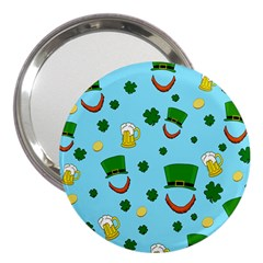 St  Patrick s Day Pattern 3  Handbag Mirrors by Valentinaart
