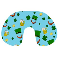 St  Patrick s Day Pattern Travel Neck Pillows by Valentinaart