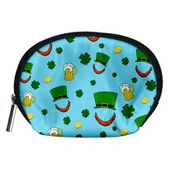 St  Patrick s Day Pattern Accessory Pouches (medium)  by Valentinaart