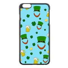 St  Patrick s Day Pattern Apple Iphone 6 Plus/6s Plus Black Enamel Case by Valentinaart