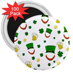 St  Patrick s Day Pattern 3  Magnets (100 Pack) by Valentinaart