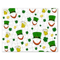 St  Patrick s Day Pattern Rectangular Jigsaw Puzzl by Valentinaart