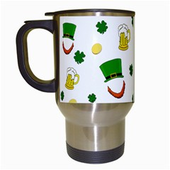 St  Patrick s Day Pattern Travel Mugs (white) by Valentinaart