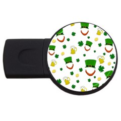 St  Patrick s Day Pattern Usb Flash Drive Round (4 Gb) by Valentinaart