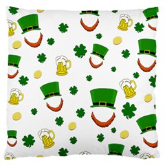 St  Patrick s Day Pattern Large Cushion Case (two Sides)