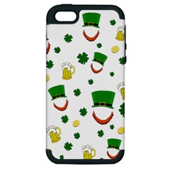 St  Patrick s Day Pattern Apple Iphone 5 Hardshell Case (pc+silicone) by Valentinaart