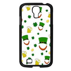 St  Patrick s Day Pattern Samsung Galaxy S4 I9500/ I9505 Case (black) by Valentinaart