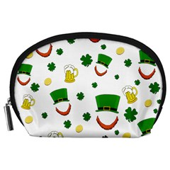 St  Patrick s Day Pattern Accessory Pouches (large)  by Valentinaart