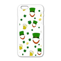 St  Patrick s Day Pattern Apple Iphone 6/6s White Enamel Case by Valentinaart