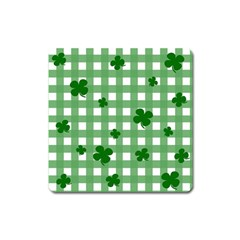 Clover Pattern Square Magnet by Valentinaart