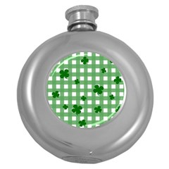 Clover Pattern Round Hip Flask (5 Oz) by Valentinaart