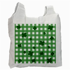 Clover Pattern Recycle Bag (two Side)  by Valentinaart