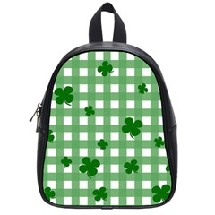 Clover Pattern School Bags (small)  by Valentinaart