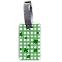 Clover Pattern Luggage Tags (two Sides) by Valentinaart