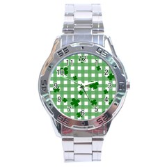 Clover Pattern Stainless Steel Analogue Watch by Valentinaart