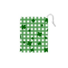 Clover Pattern Drawstring Pouches (xs)  by Valentinaart