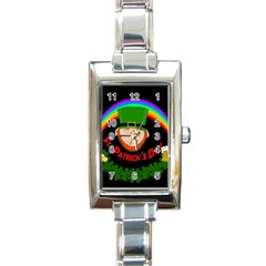 St  Patrick s Day Rectangle Italian Charm Watch by Valentinaart