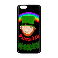 St  Patrick s Day Apple Iphone 6/6s Black Enamel Case by Valentinaart
