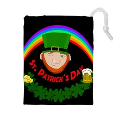 St  Patrick s Day Drawstring Pouches (extra Large) by Valentinaart