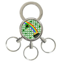 St  Patrick s Day Rainbow 3 Ring Key Chains by Valentinaart