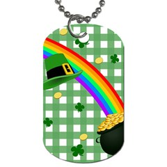 St  Patrick s Day Rainbow Dog Tag (two Sides)
