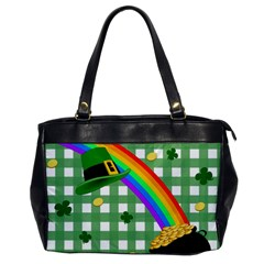 St  Patrick s Day Rainbow Office Handbags by Valentinaart