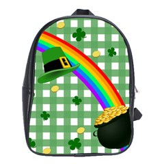 St  Patrick s Day Rainbow School Bags (xl)  by Valentinaart