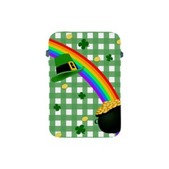 St  Patrick s Day Rainbow Apple Ipad Mini Protective Soft Cases by Valentinaart
