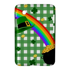 St  Patrick s Day Rainbow Samsung Galaxy Tab 2 (7 ) P3100 Hardshell Case  by Valentinaart
