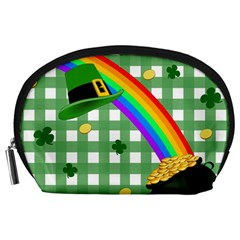 St  Patrick s Day Rainbow Accessory Pouches (large)  by Valentinaart