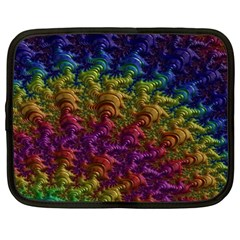 Fractal Art Design Colorful Netbook Case (xxl)