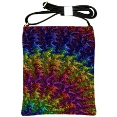 Fractal Art Design Colorful Shoulder Sling Bags by Nexatart