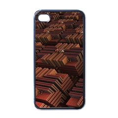 Fractal 3d Render Futuristic Apple Iphone 4 Case (black) by Nexatart