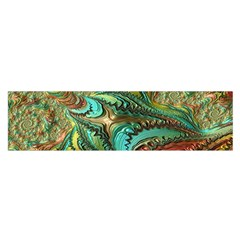 Fractal Artwork Pattern Digital Satin Scarf (oblong)